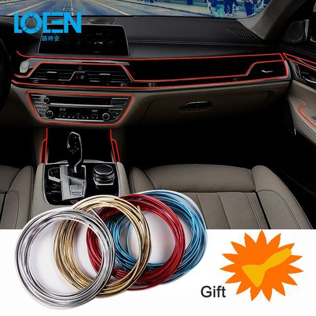 5m Car Interior Decoration Strips Moulding Trim Dashboard Door