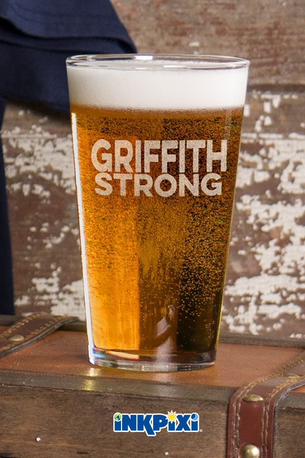 Strong Clear Pint Glass Engraved Single Custom Pint Glass