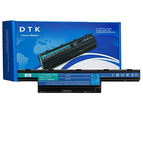 Dtk Laptop Battery for Acer Aspire 4250 4253 4551 4552 4738 4741 4750 4752 4771 5251 5253 5336 5551 5552 5560 5733 5741 5742 Series Notebook Battery #Laptop #Battery #Acer #Aspire #Series #Notebook