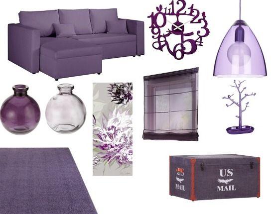 25 beste idee n over paarse woonkamers op pinterest for Paarse eetkamerstoelen