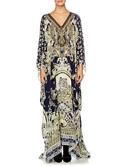 $350 Camilla - Chinese Whispers Silk Caftan