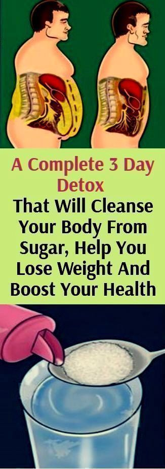 A COMPLETE 3 DAY DETOX THAT WILL CLEANSE YOUR BODY FROM SUGAR, HELP YOU LOSE WEIGHT AND BOOST YOUR HEALTH!