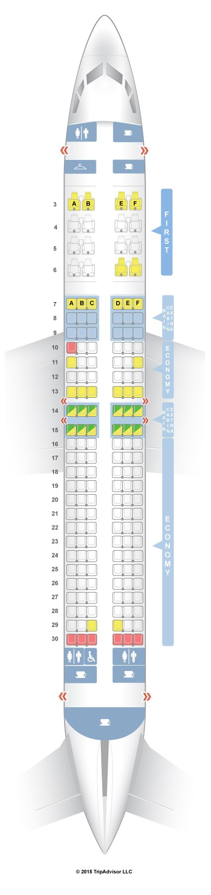 SeatGuru Seat Map American Airlines Boeing 737-800 (738) V1