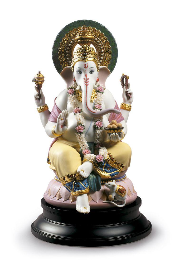 Lladro 02004 LORD GANESHA http://www.lladrofromspain.com/0loga.html Issue Year: 2017 Sculptor: Ernest Massuet Size: 42x25 cm Base included Limited Edition 1800 pieces #lladro #lord #ganesha #limitededition #hindu #porcelain