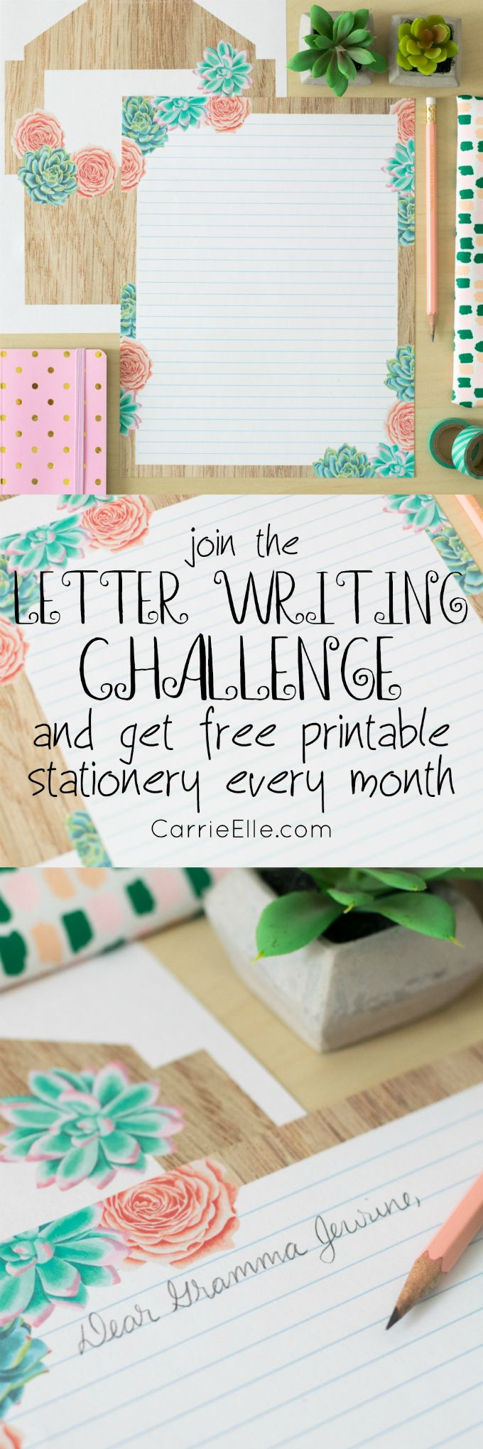 Join the Letter Writing Challenge and Get Free Printable Stationery