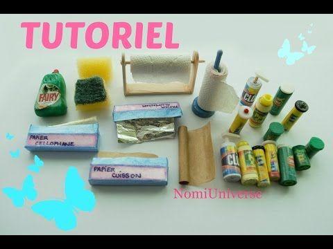 Tutorial : how to make a sponge, dish soap, aluminum foil, baking paper, dish soap, etc, for dolls - YouTube