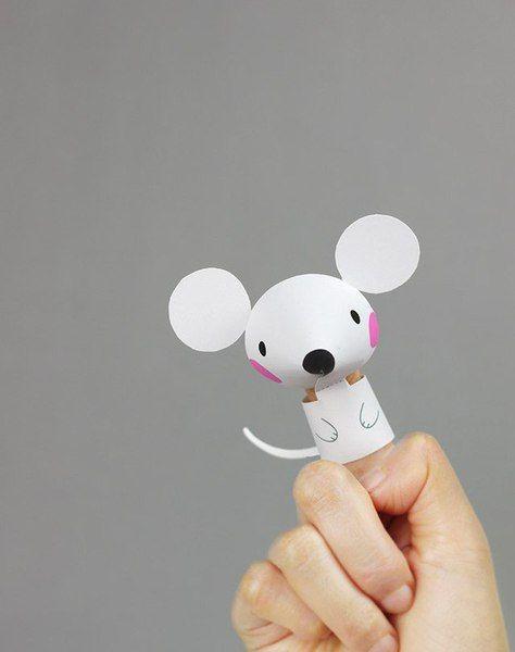 Divertidos títeres de papel para hacer con los niños | Manualidades