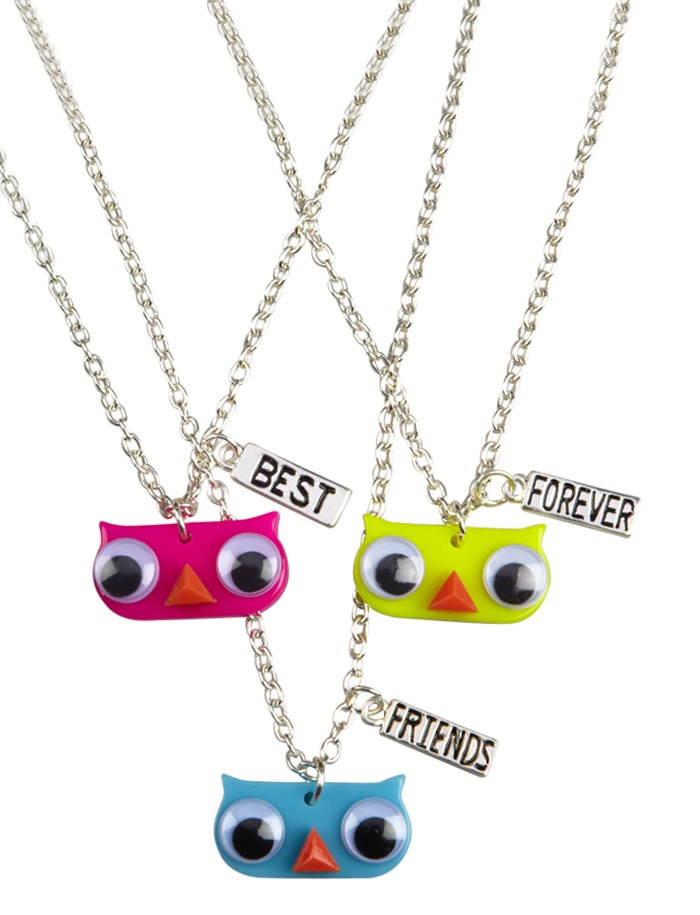 BFF Googly Eye Owl Necklaces | Animal Shop | Jewelry By Trend | Shop Justice