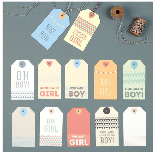 Free printable baby gift tags | Love vs Design