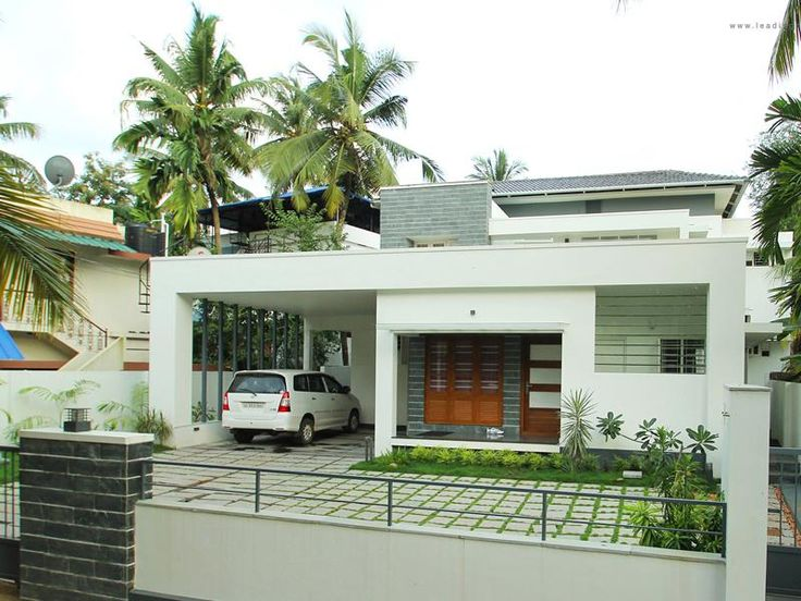 This is an astounding example of contemporary home design for Kerala contemporary home designs