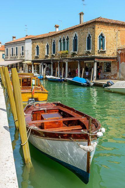 Canal Houses in Murano, Italy Veneto