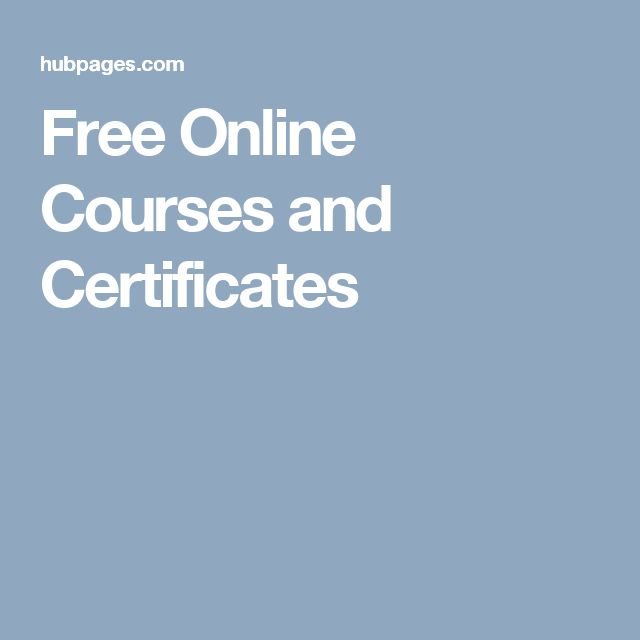 Free Online Courses and Certificates