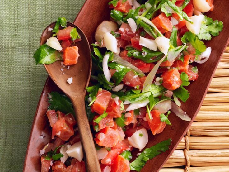 Get this all-star, easy-to-follow Lomi Lomi Salmon recipe from Food Network Kitchen