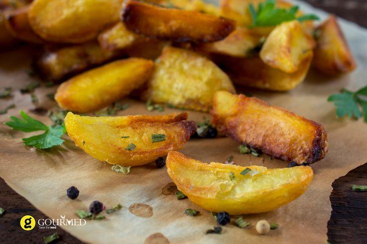 Εύκολες ψητές πατάτες φούρνου