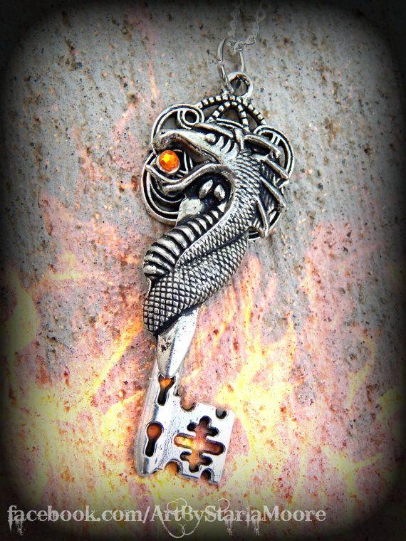 Dragon Blade Fantasy Key by ArtbyStarlaMoore on Etsy, $15.00