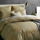 Organic Winter Berry Duvet Cover, Full/Queen, Parchment
