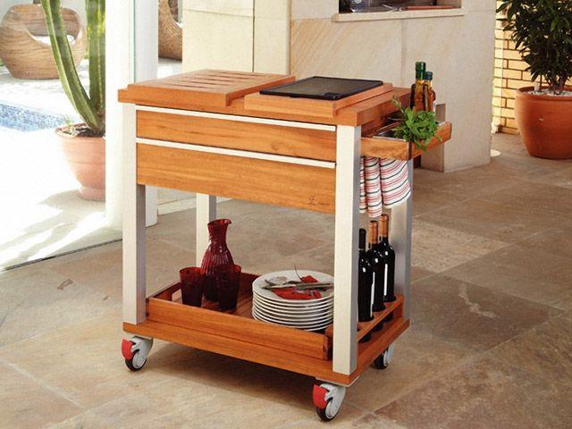 Carrinho para Preparar e Servir Churrasco Tramontina 10496/920 - Utensílios de Cozinha - Magazine Luiza