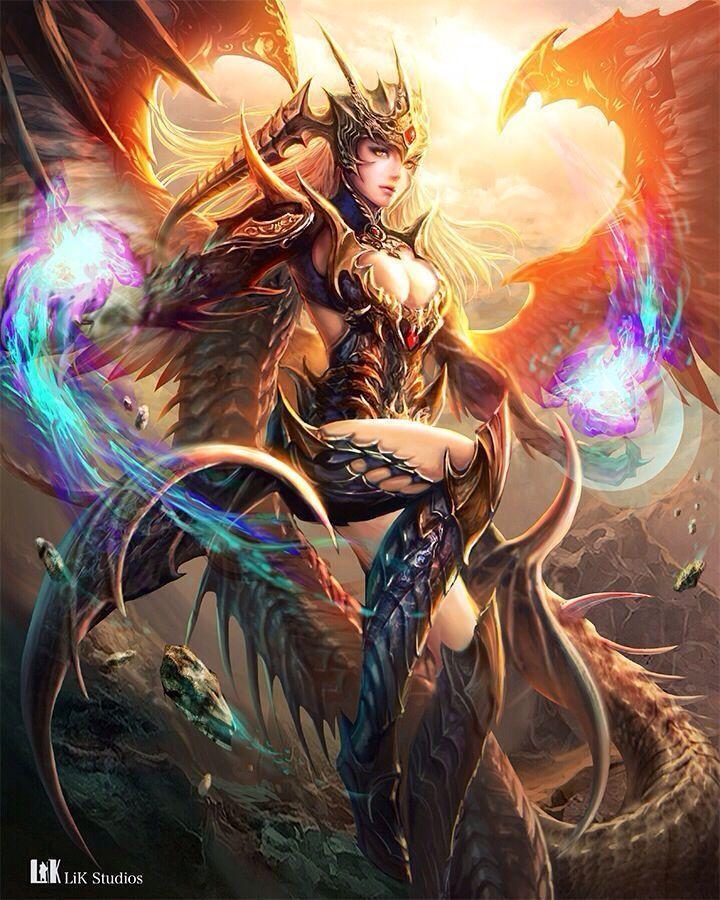 Hechicera dragon Dark fantasy art, Fantasy art women, Art