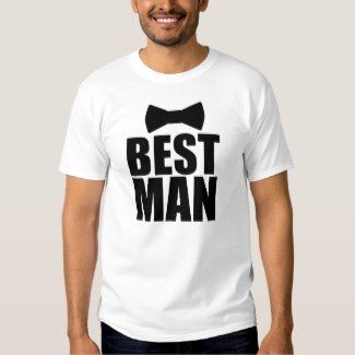 BEST MAN – Funny Bow Tie Men's T-Shirt White
