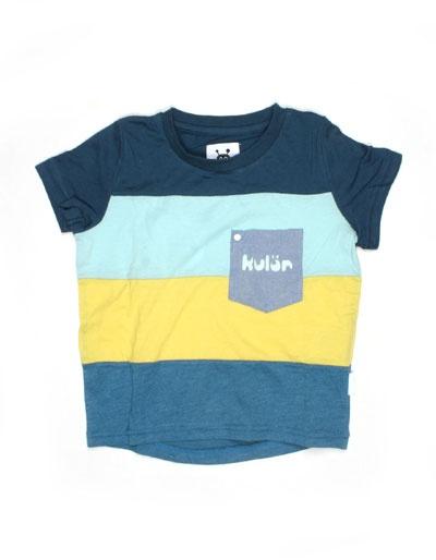 Blauw gestreept Viggo T-shirt - Kulor