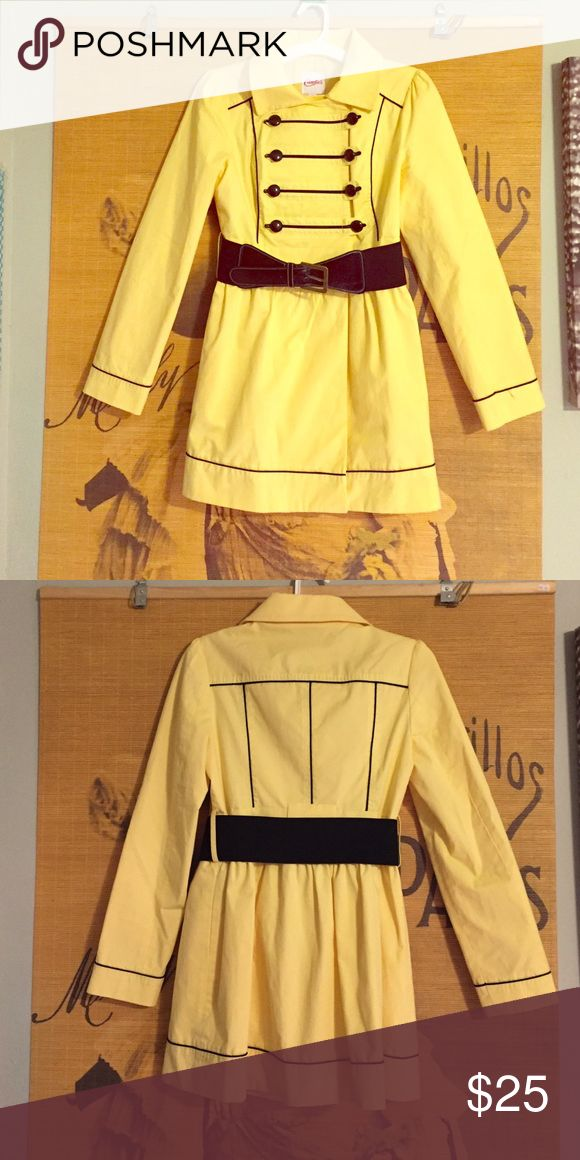 Candies Yellow Trench Coat This is a yellow trench coat with great detail and tailoring. It has only been worn once! Candie's Jackets & Coats Trench Coats