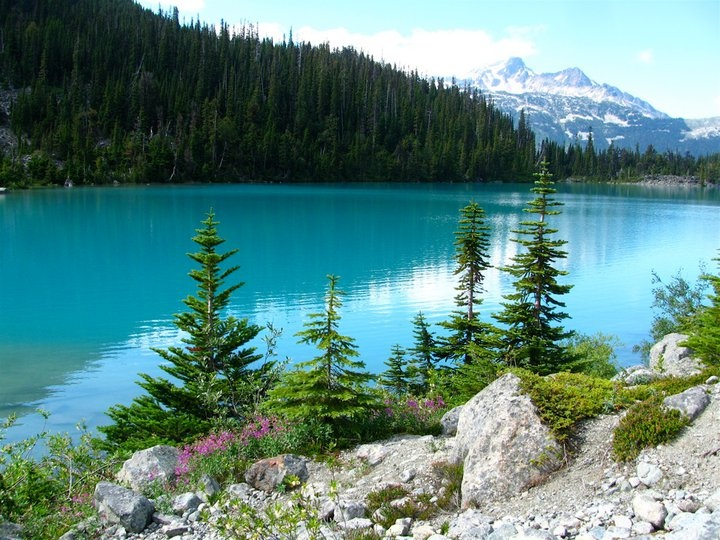 Joffre Lakes, BC, Canada. It's a must on everybody's list :) Picture taken in August. Loved the place. Heaven on earth.