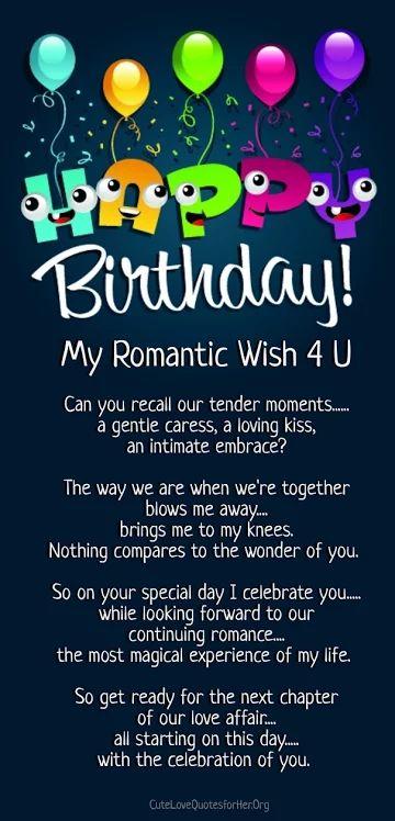a happy birthday poem romantic