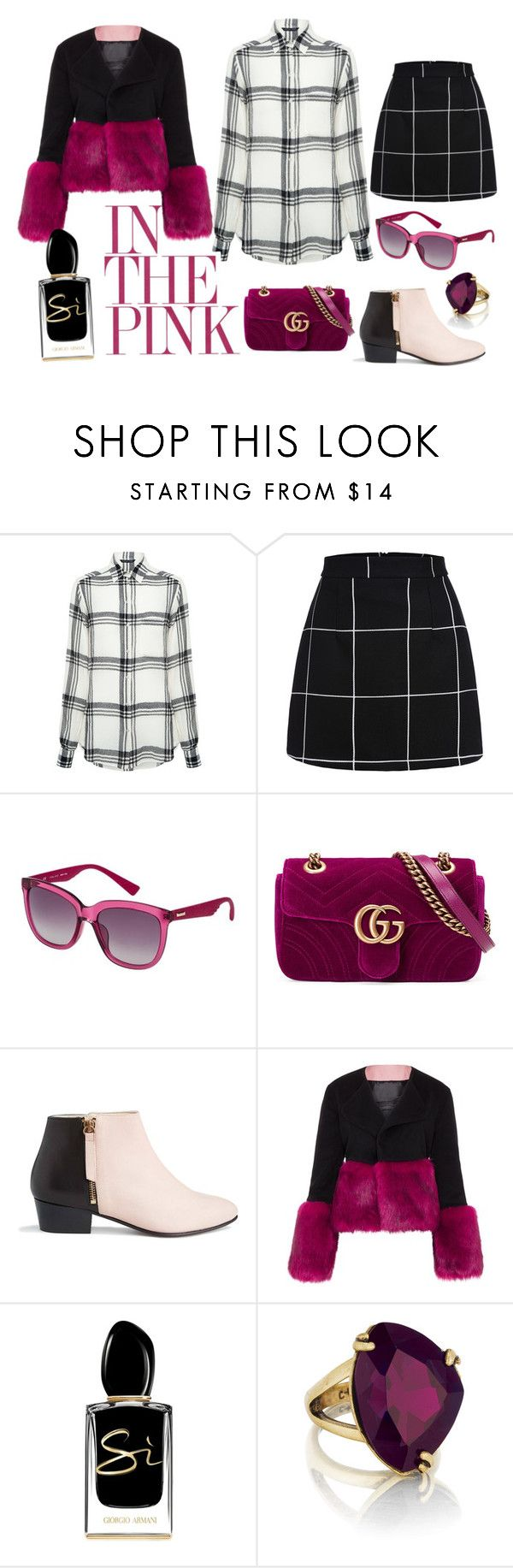 """""""Baby you can drive my car"""" by always-right ❤ liked on Polyvore featuring Marissa Webb, POLICE, Gucci, Nine to Five, Vjera Vilicnik, Giorgio Armani and Chloe + Isabel"""