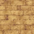 The Wallpaper Company 56 sq. ft. Brown Earth Tone Brick Wallpaper-WC1282421 at The Home Depot