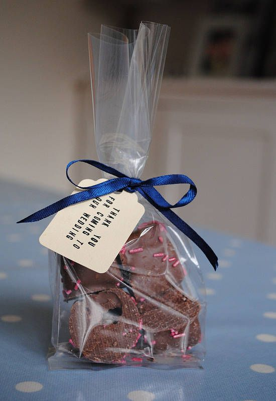 pack of 25 clear favour bags by creative and contemporary handmade | notonthehighstreet.com