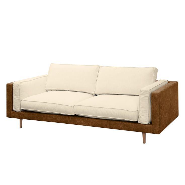 Sofa Kofi (3-Sitzer) - Microfaser / Webstoff - Nougat / Creme, Morteens Möbel, Wohnzimmer, Sofas & Couches, Morteens Jetzt bestellen unter: https://moebel.ladendirekt.de/wohnzimmer/sofas/2-und-3-sitzer-sofas/?uid=f9b39d71-6ddf-5bda-a6aa-1af10bd4cca4&utm_source=pinterest&utm_medium=pin&utm_campaign=boards