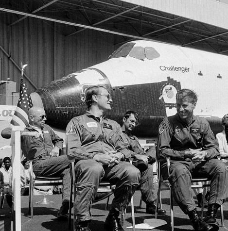 1983 some crewmembers of the space shuttle Challenger including its first Commander Paul Weitz who died Monday http://ift.tt/2i2AI3d