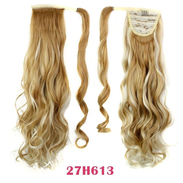 Best 25 ponytail hair extensions ideas on pinterest elegant 22 synthetic hair long wavy clip in ribbon ponytail hair extensions curly hairpiece fake hair pmusecretfo Image collections