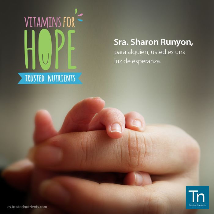 Millones de niños en todo el mundo sufren de ''hambre oculta'', la falta de micronutrientes que puede llevar a la enfermedad crónica e incluso la muerte. De hecho, el 45% de todas las muertes infantiles son atribuidas a la desnutrición. Sharon Runyon es una de nuestras clientes más fieles, que nos ha apoyado desde el principio. Por eso quisimos devolverle el favor, uniéndonos a Vitamin Angels en nombre de Sharon. Juntos, podemos cambiar estas estadísticas :)