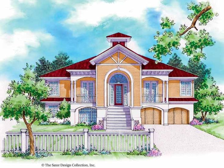 88 best key west house plans images on pinterest house for Key west style home floor plans