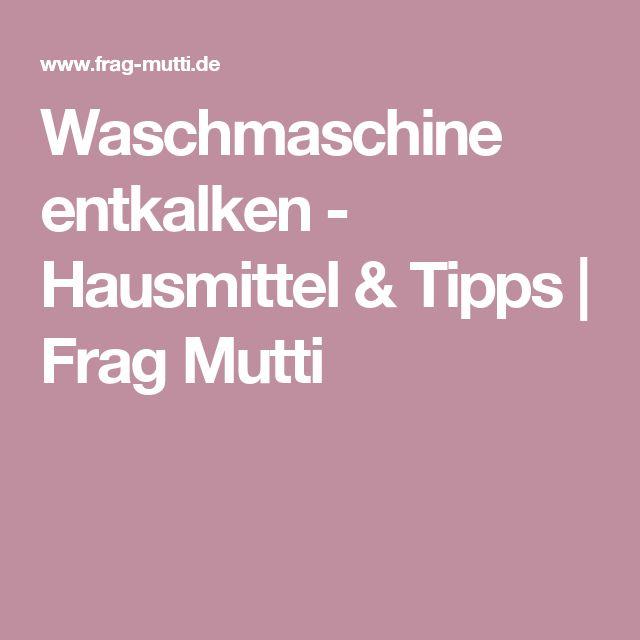 Waschmaschine entkalken - Hausmittel & Tipps | Frag Mutti