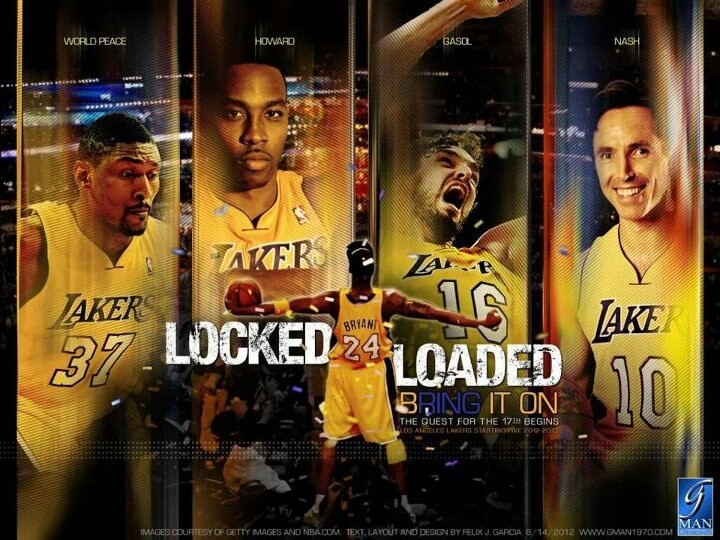 locked and loaded: Los Angeles Lakers, Lakers Locks, Kobe Bryant, Assembl Team, The Lakers Angel, Lakers Girls, Hardwood Heroes, Locks Loaded, Lakers Dwight