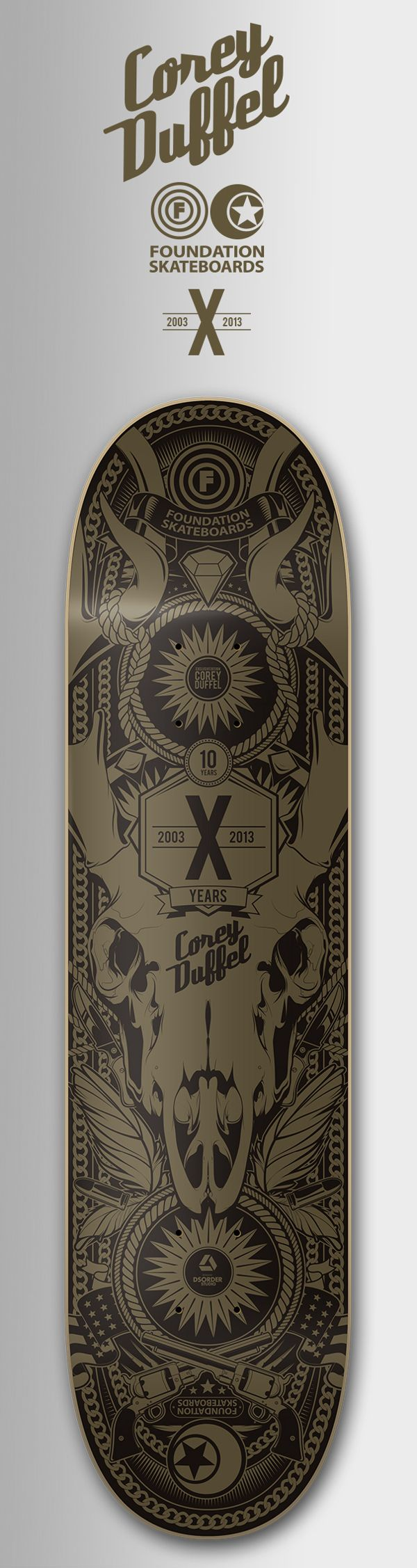 FOUNDATION SKATEBOARDS - COREY DUFFEL by DSORDER , via Behance