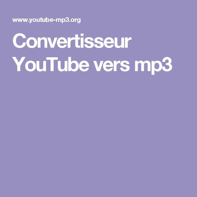 Convertisseur YouTube vers mp3