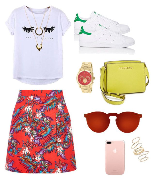"""Tuesday summer look"" by alegaravito on Polyvore featuring moda, House of Holland, Chicnova Fashion, adidas, Michael Kors, MICHAEL Michael Kors, Illesteva, BP. y WithChic"