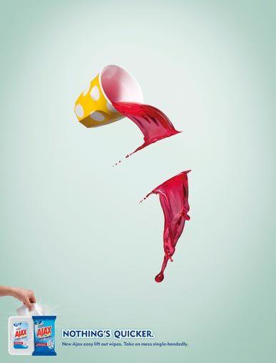 Propaganda de pano de limpeza| Criatives | Blog Design, Inspirações, Tutoriais, Web Design