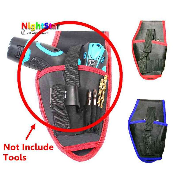 6 Pockets Oxford Tool Pouch Electrician Tools Bag Belt Waist Pocket