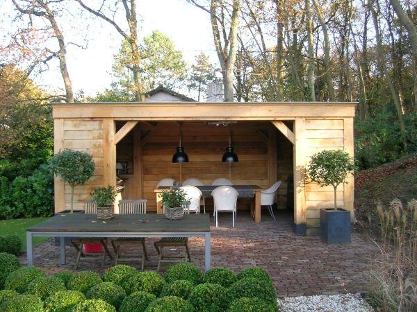 houten overkapping in tuin   Tuin Overkapping Met Een Stenen Schuur 300x300x290 De Is Pictures