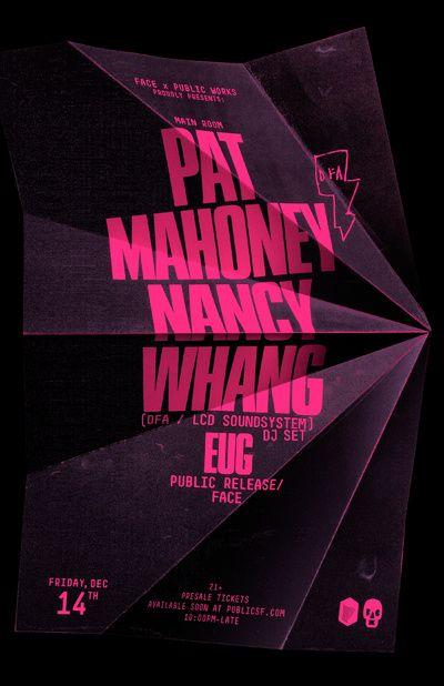 pat mahoney nancy whang dj set poster