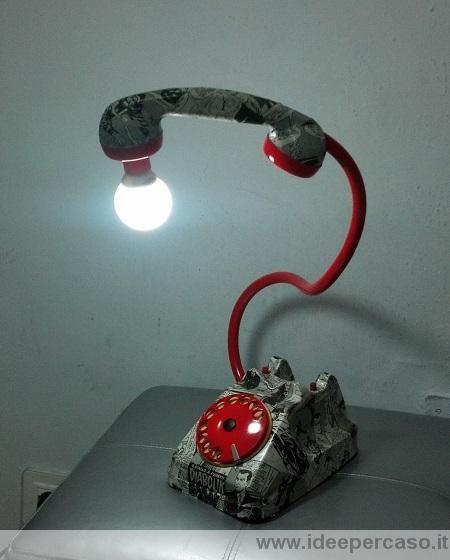lampada telefono pop art