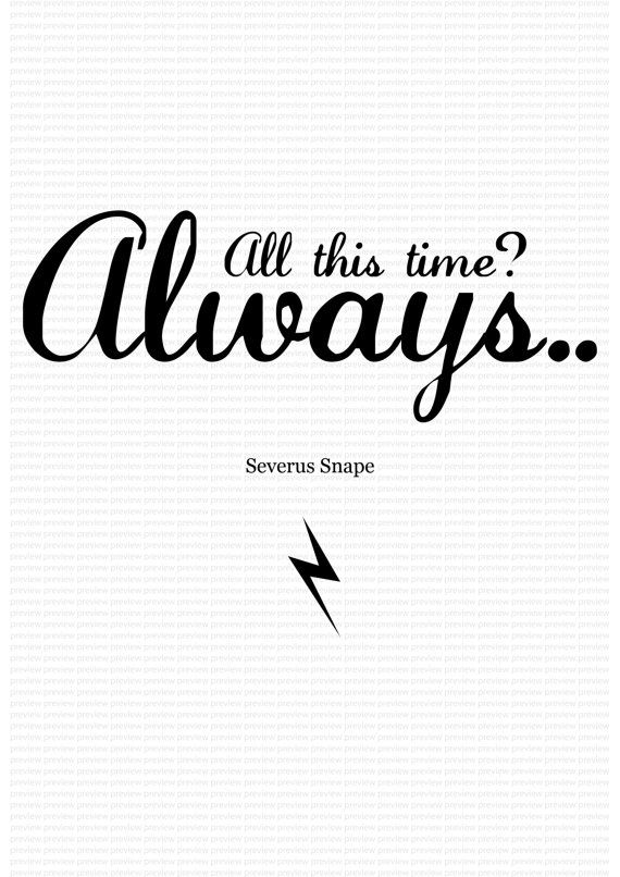 dress shoe nike air Harry Potter Poster Severus Snape 'Always' A3 by BKSdesignandprint, £6.00