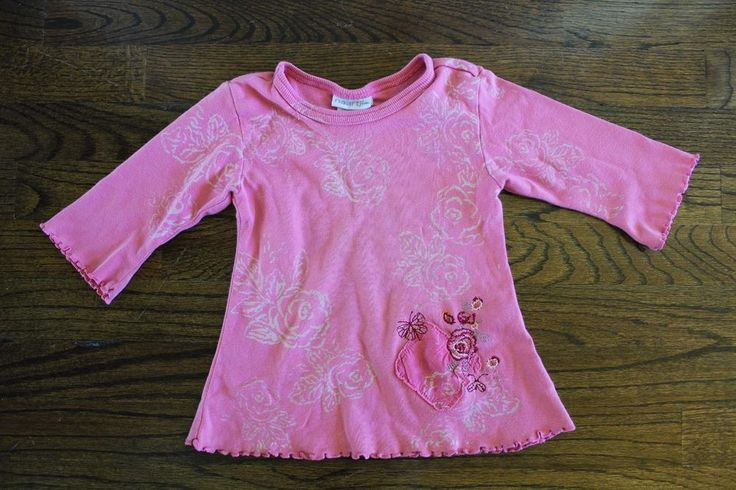 Naatjie Pink Flower Ruffle Long Tee Shirt Tshirt Top 2T NWT #Naartjie #Everyday