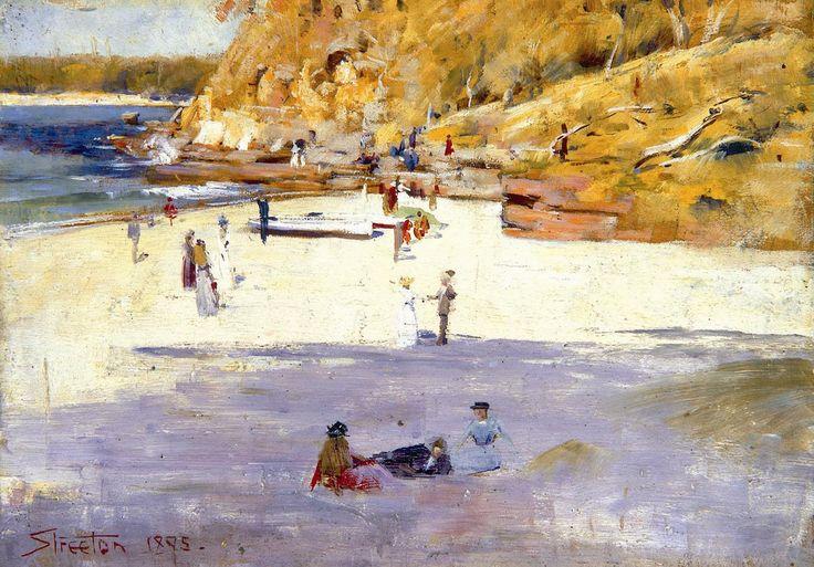 Arthur Streeton 1867-1943  Manly Beach 1895