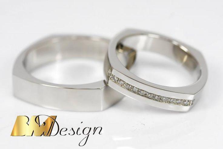 Obrączki z platyny z diamentami. Obrączka z diamentami Ręcznie oprawiane diamenty Obrączka ślubna zjawiskowa #diamenty #bmdesign #Rzeszów #biżuteria #nazamowienie