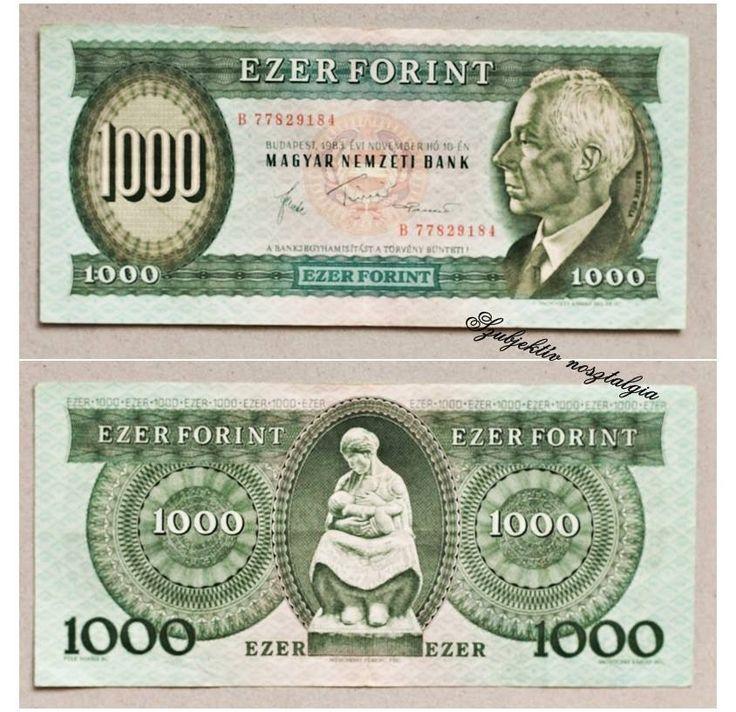 Ezen a napon, 1983. június 27-én a Magyar Nemzeti Bank forgalomba hozta az 1000 forintos címletű bankjegyet.